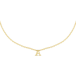 Gold / A Uppercase Initial Necklace - Adina's Jewels