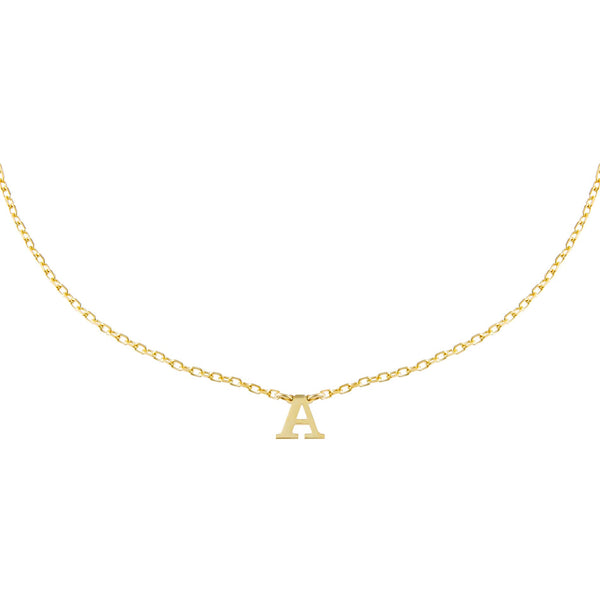 Gold / A Uppercase Initial Choker - Adina's Jewels