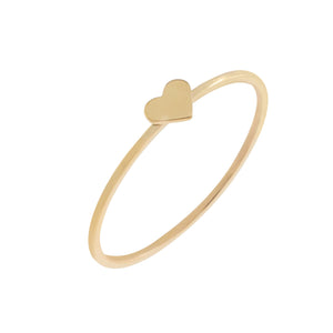 14K Gold / 6 Mini Heart Ring 14K - Adina's Jewels