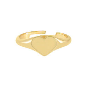 Solid Heart Adjustable Ring - Adina's Jewels