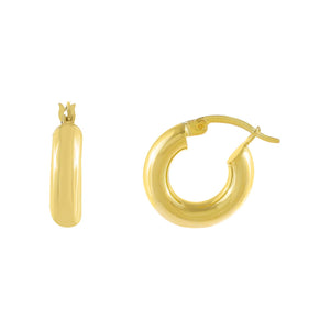 Gold Mini Tubular Hoop Earring - Adina's Jewels