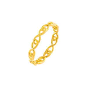 Gold / 6 Interlocked Link Ring - Adina's Jewels