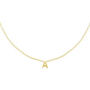 Gold / A Solid Uppercase Initial Choker - Adina's Jewels