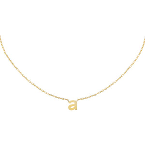 Gold / A Solid Lowercase Initial Choker - Adina's Jewels