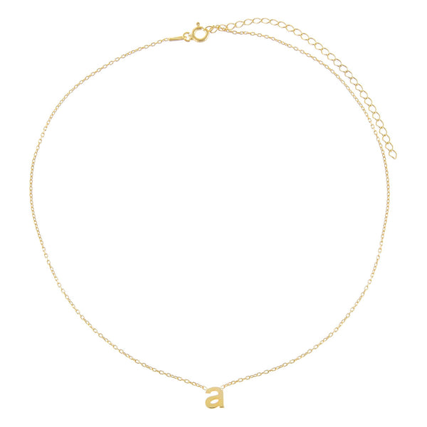 Solid Lowercase Initial Choker - Adina's Jewels
