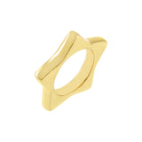 Gold / 6 Solid Chunky Star Ring - Adina's Jewels