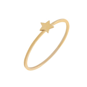 14K Gold / 6 Mini Star Ring 14K - Adina's Jewels