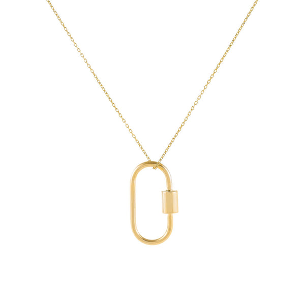 Gold Solid Toggle Necklace - Adina's Jewels