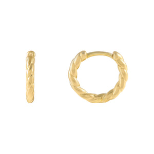 Gold Mini Twisted Huggie Earring - Adina's Jewels