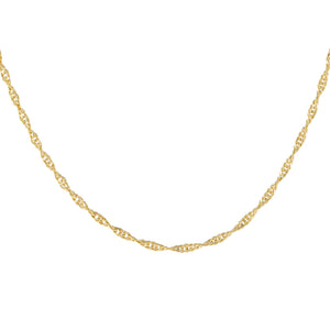 Gold Singapore Chain Necklace - Adina's Jewels