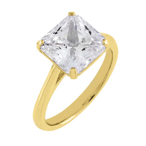Gold / 6 Princess Cut Travel Ring - Adina's Jewels