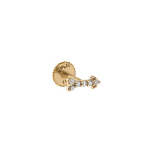 14K Gold / Single CZ Arrow Stud Earring 14K - Adina's Jewels