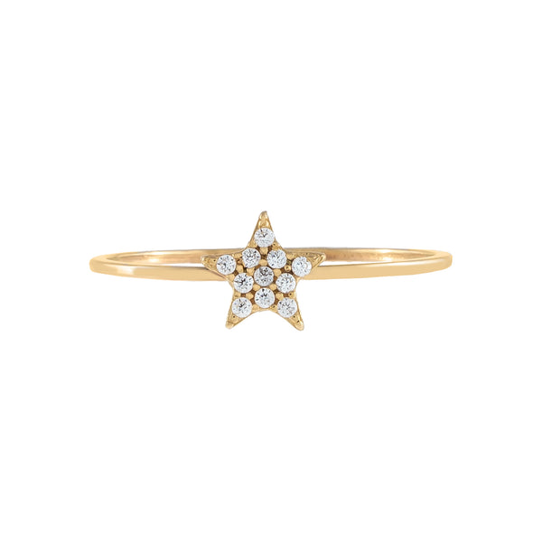 Pavé Star Ring 14K - Adina's Jewels