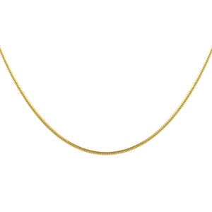 "Gold / 16"" Thin Snake Chain Necklace - Adina's Jewels"