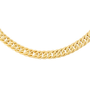 Gold Hollow Double Curb Chain Choker - Adina's Jewels