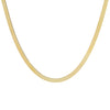 "14K Gold / 4.5 MM / 16"" Thick Herringbone Necklace 14K - Adina's Jewels"