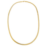 Thick Herringbone Necklace 14K - Adina's Jewels