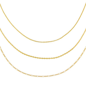 Gold Vintage Chain Necklace Combo Set - Adina's Jewels