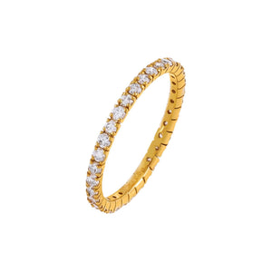 14K Gold / 4.5 Diamond Thin Band 14K - Adina's Jewels