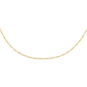 Gold Baby Figaro Necklace - Adina's Jewels