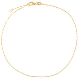 14K Gold XS Link Chain Anklet 14K - Adina's Jewels