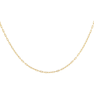 "14K Gold / 16"" XS Link Chain Necklace 14K - Adina's Jewels"
