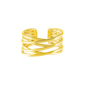Multi Row Adjustable Ring - Adina's Jewels
