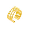 Gold Multi Row Adjustable Ring - Adina's Jewels