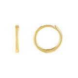 Gold Thin Plain Ring Huggie Earring - Adina's Jewels
