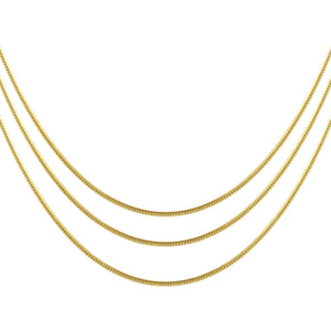 Gold Thin Snake Chain Necklace Combo Set - Adina's Jewels