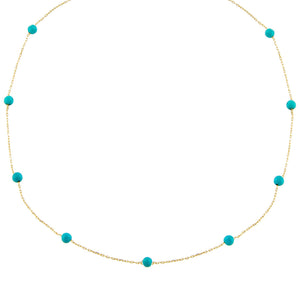 Turquoise Colored Multi Beaded Choker - Adina's Jewels