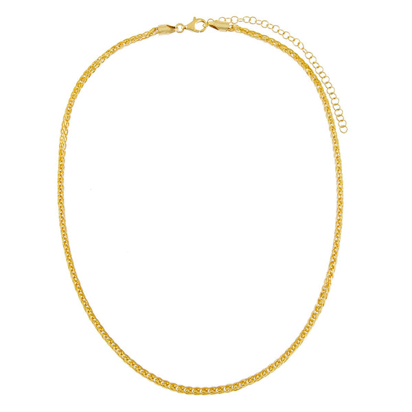 Thin Franco Chain Necklace - Adina's Jewels
