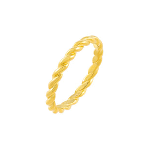 Gold / 6 Rope Ring - Adina's Jewels