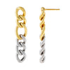 Combo Two Tone Miami Curb Large Links Earring - Adina's Jewels