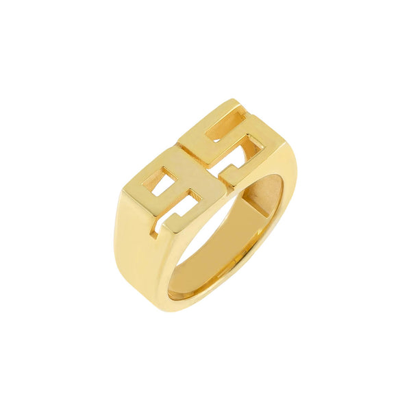 14K Gold / 3 Double Pinky Year Ring 14K - Adina's Jewels