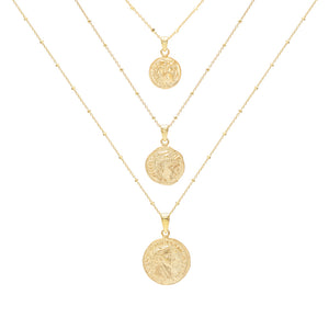 Gold 3 Piece Coin Set - Adina's Jewels