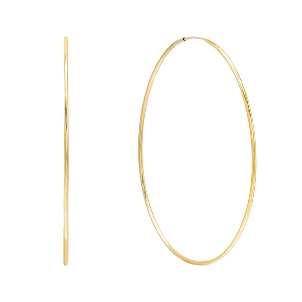 14K Gold / 50 MM Endless Hoop Earring 14K - Adina's Jewels