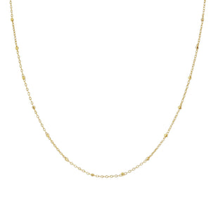 Gold Thin Beaded Chain Necklace - Adina's Jewels