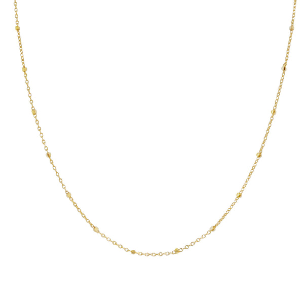"14K Gold / 16"" Thin Ball Chain Necklace 14K - Adina's Jewels"