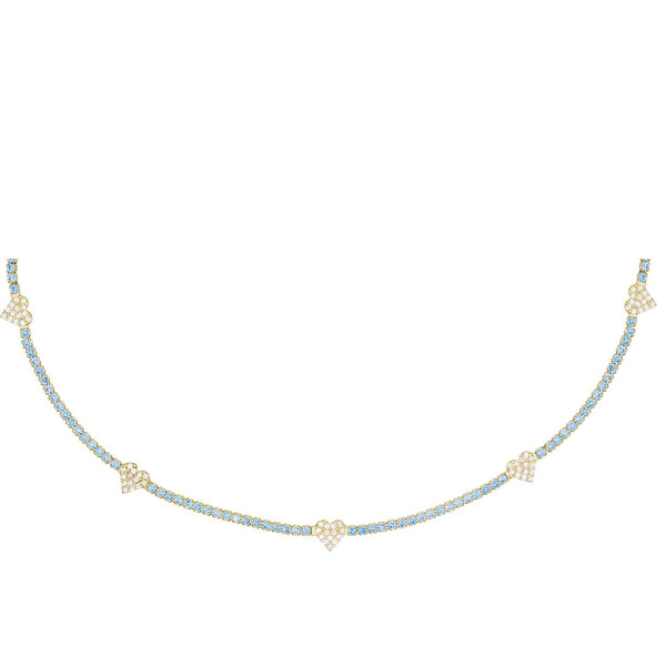 Pastel Heart Tennis Choker - Adina's Jewels