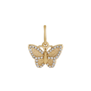 Diamond Butterfly Charm 14K