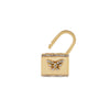 Diamond Butterfly Lock Huggie Earring 14K - Adina's Jewels