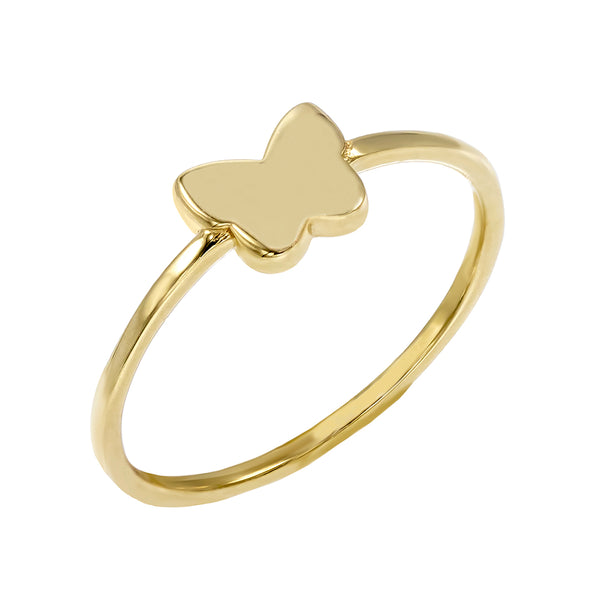 14K Gold / 7 Butterfly Ring 14K - Adina's Jewels