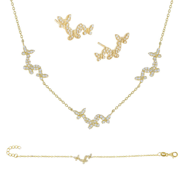 Gold The Butterfly Lover Combo Set - Adina's Jewels