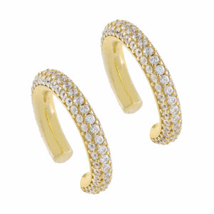 Gold / Pair Pavé Ear Cuff Combo Set - Adina's Jewels