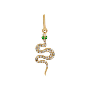 Diamond Serpent Charm 14K