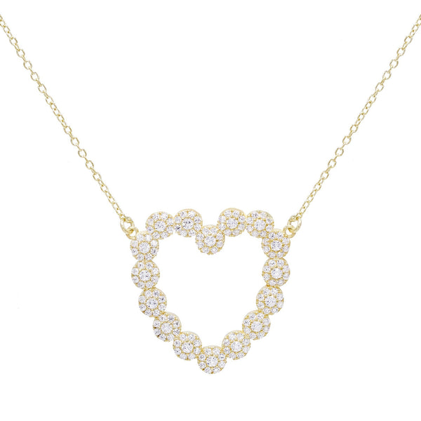 Gold Heart Stone Necklace - Adina's Jewels