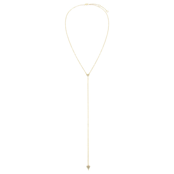 Pavé Heart Lariat - Adina's Jewels