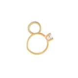 14K Gold Diamond Ring Charm 14K - Adina's Jewels