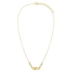 CZ Paperclip Link Necklace - Adina's Jewels